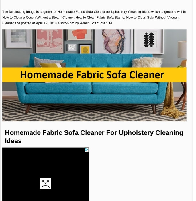 Mix · Homemade Fabric Sofa Cleaner for