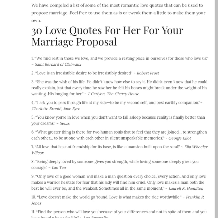 Mix · Best Romantic Proposal Love Quotes For Her