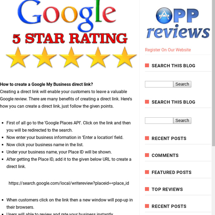 Mix · How To Create Google Reviews Direct Link?
