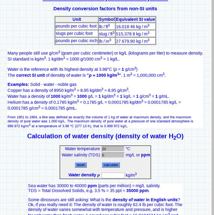 Mix · Density units conversions conversion pound cubic foot