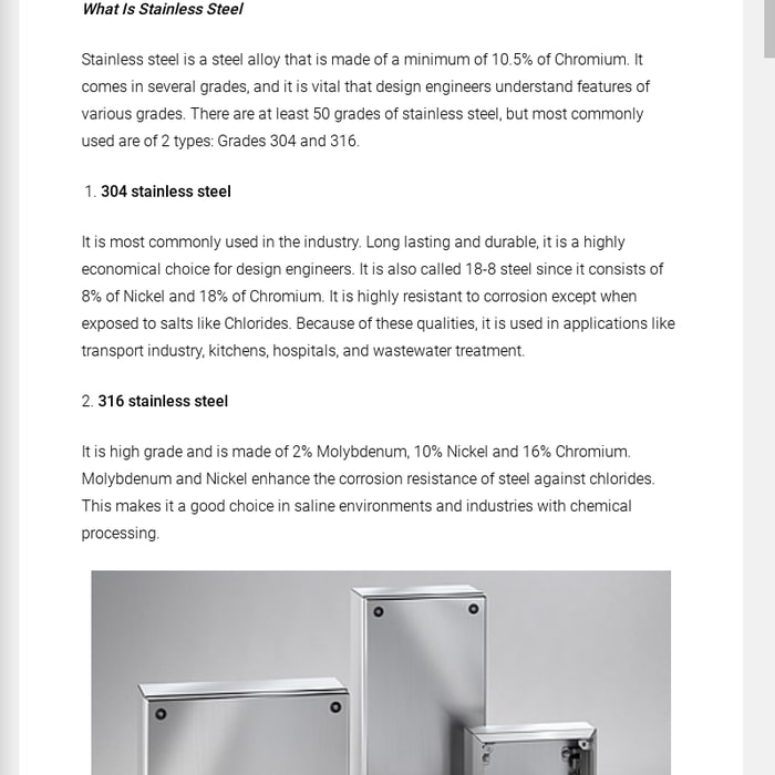 What Is Stainless Steel Made Of >> Mix Top 7 Benefits Of Stainless Steel Enclosures Lean