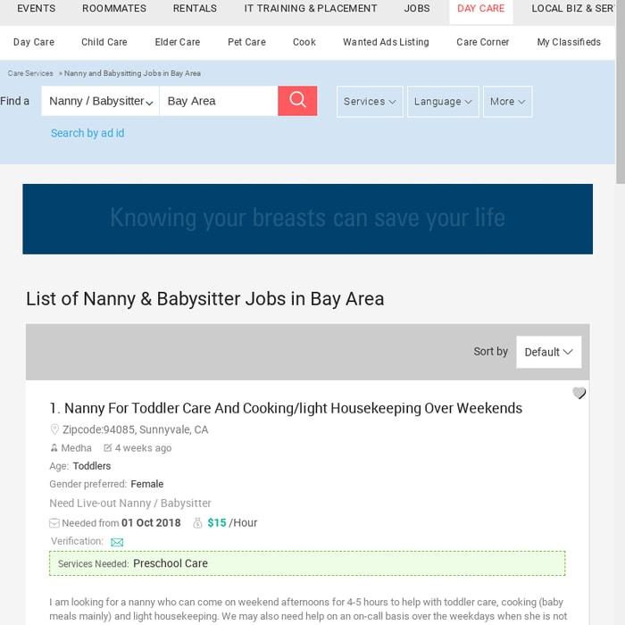 Nanny Jobs Bay Area