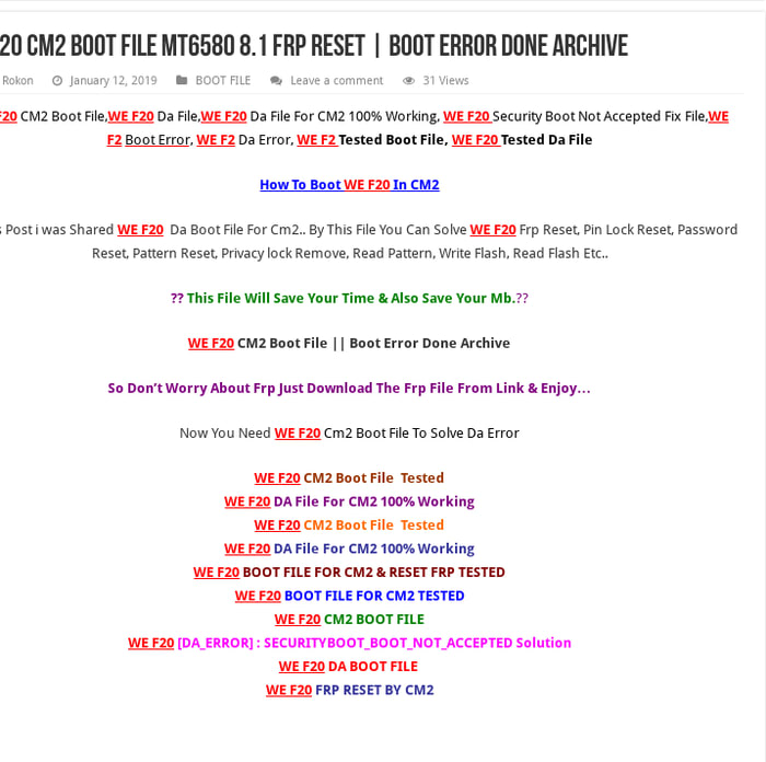Mt6739 Frp Scatter File Download