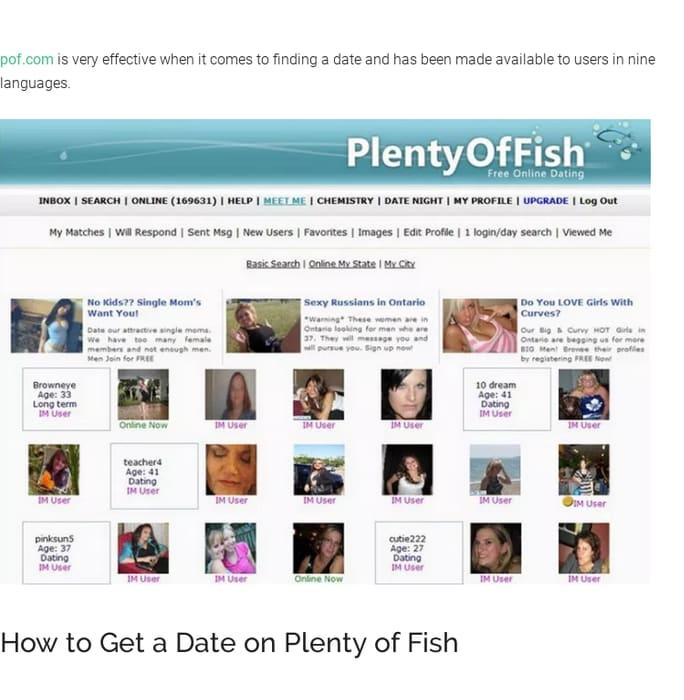 online dating service POF snelheid dating gecko Bar