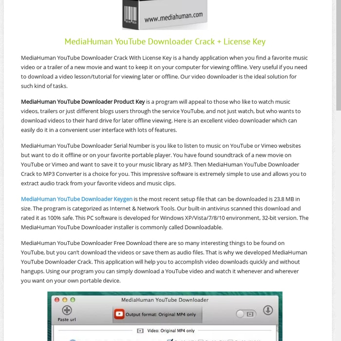 mediahuman youtube downloader key 3.9.8.25