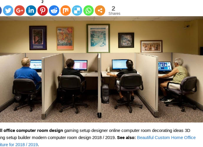 Mix Small Office Computer Room Design And Ideas 2018 2019