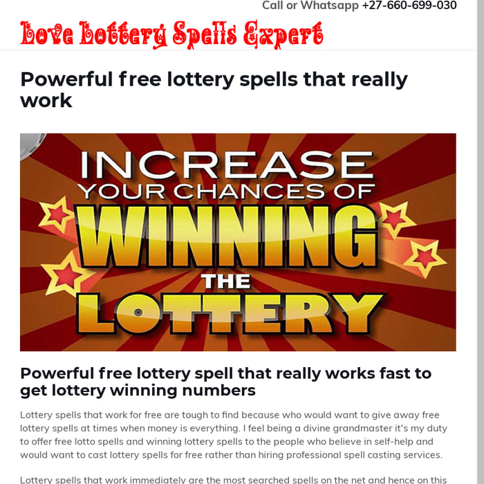 Mix · Powerful free lottery spells that really work