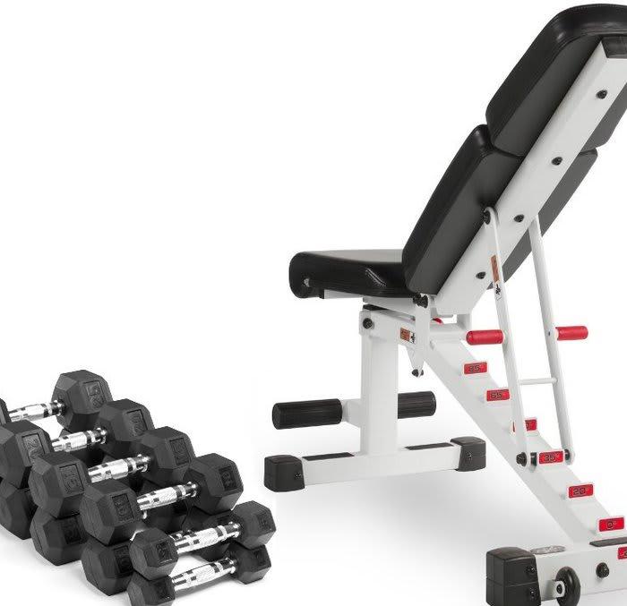 Rubber Hex Dumbbells XM-3301-10-P XMark Fitness Pair of 10 lb