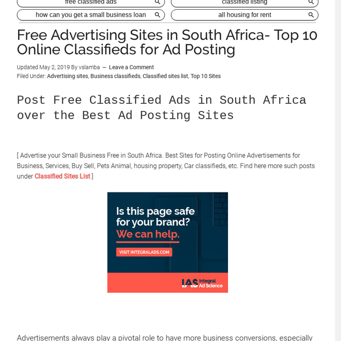 Mix · Free Advertising Sites in South Africa- Classifieds for