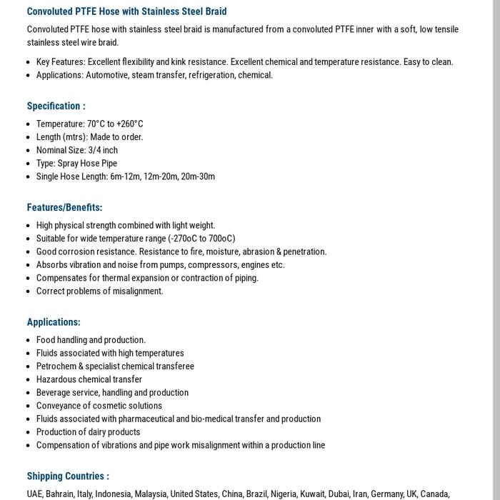 Mix · PTFE Hose, PTFE Hose Manufacturer, PTFE Hoses Supplier