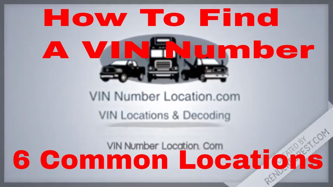 Mix · How To Find a VIN Number 6 common places to find your