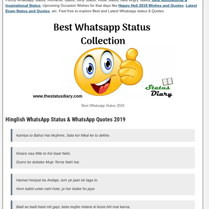 Mix Status Diary Latest Whatsapp Status And Whatsapp Quotes