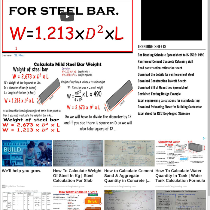 Mix · Calculate Weight of Mild Steel Bar | New Formula for