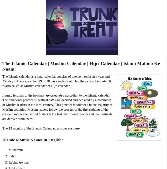 Mix · Islamic Months Name - Islamic Calendar
