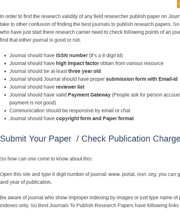 Mix · best journals to publish research papers, call for