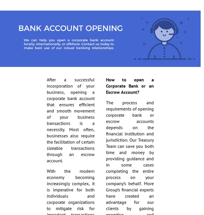 Mix · Corporate Bank Account Opening Services
