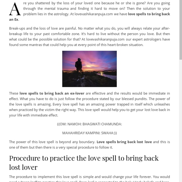 Mix · Love Spell to Bring Lost Love Back