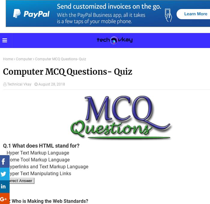 Computer Mcq 2018