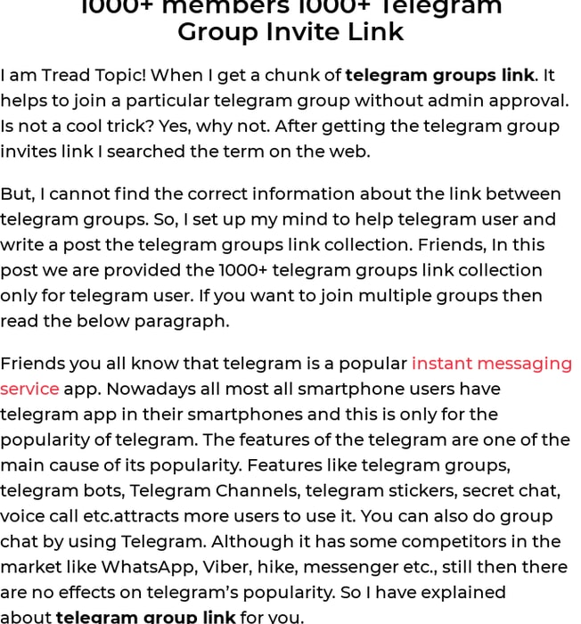 Mix · 1000+ members 1000+ Telegram and 1000+ Whatsapp group