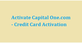 capital one credit card activation number
