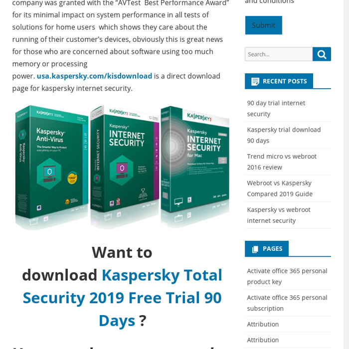 Mix · Kaspersky Total Security 2019 Free Trial 90 Days