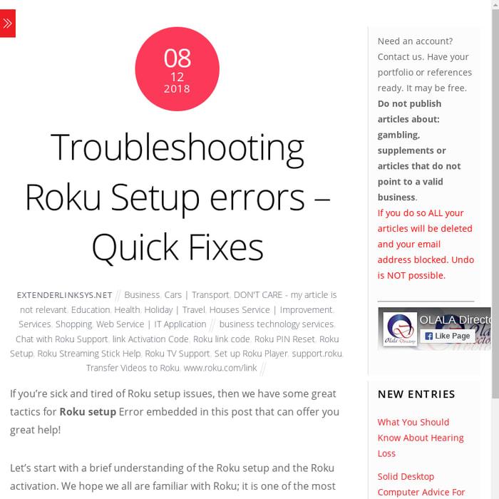 Mix · Troubleshooting Roku Setup errors – Quick Fixes