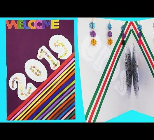 Mix Happy New Year Pop Up Greeting Card Handmade Diy New
