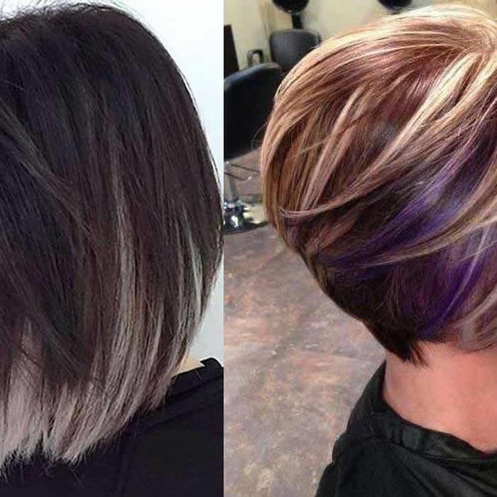 Mix · Short bob haircut and hair color ideas for 2019