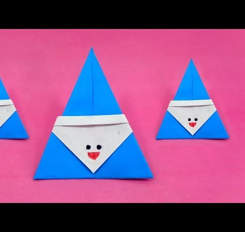 Wonderful DIY Cute Mini Origami Santa | 480x507