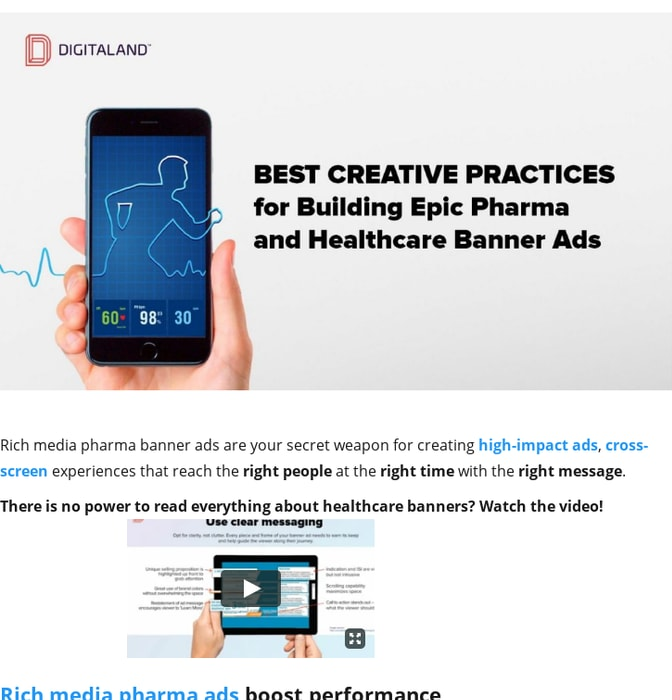 Mix · Creative Pharma banners and Healthcare Banner Ads