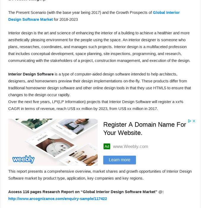 Mix · Interior Design Software Market analysis by Top