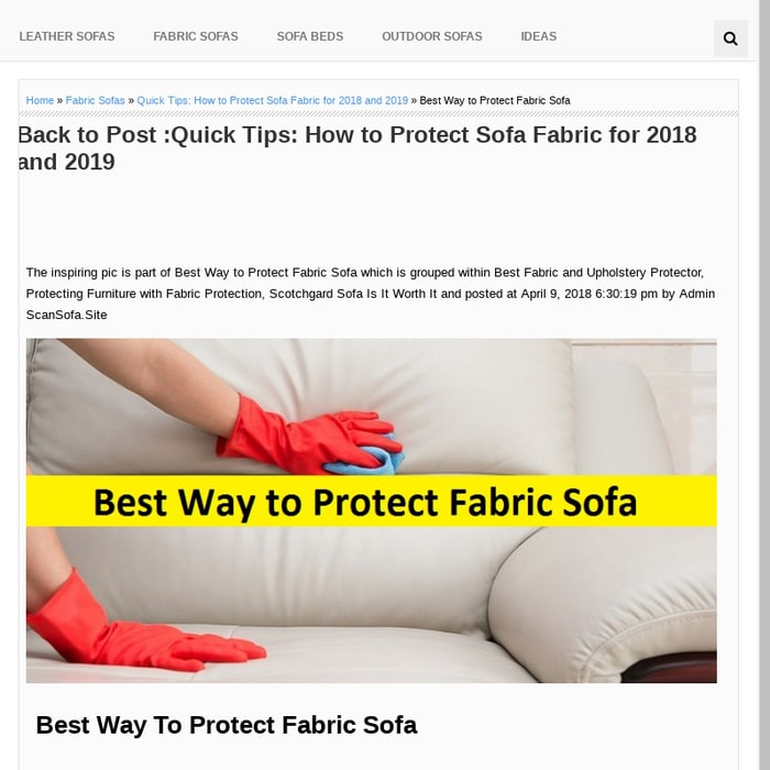 Mix Best Way To Protect Fabric Sofa