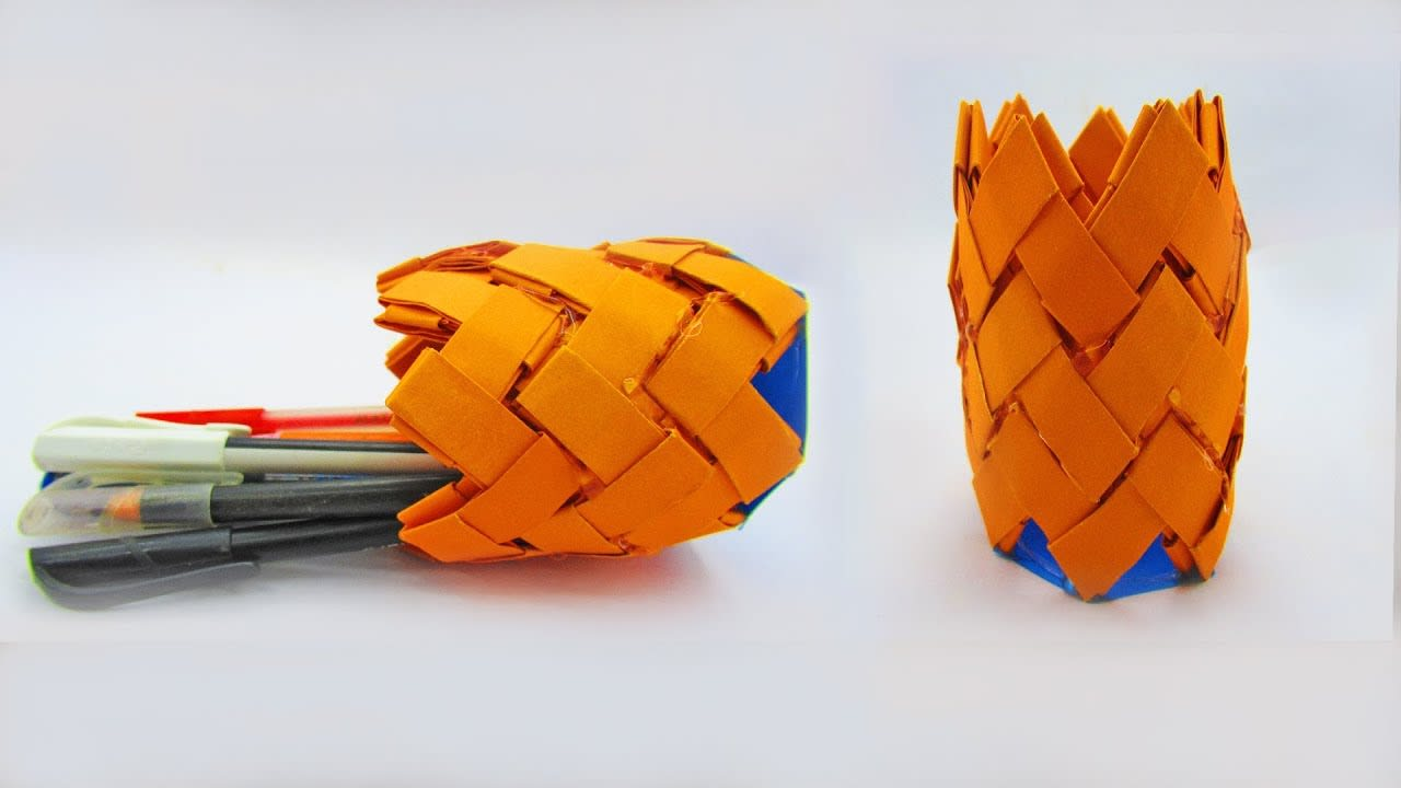 Mix Diy Paper Pen Holder How To Make A Origami Pencil