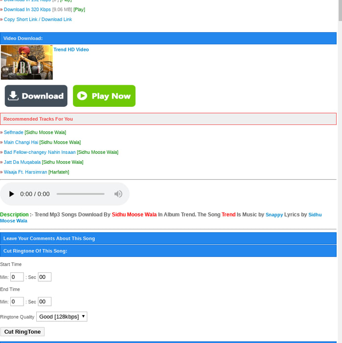 Mix · Trend - Sidhu Moose Wala mp3 song