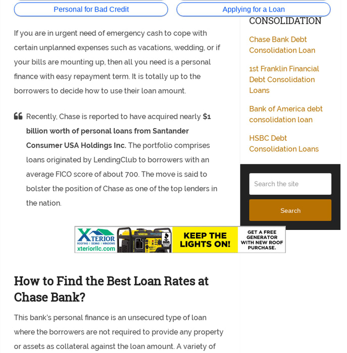 Chase Personal Loan >> Mix Does Chase Bank Offer Personal Loans