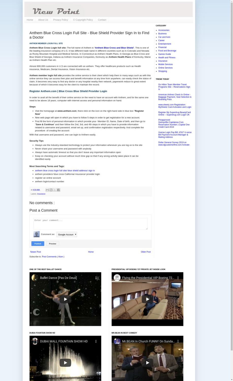 Mix · Anthem Blue Cross Login Full Site - Blue Shield