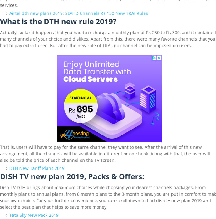 Mix · DISH TV new plan 2019: TRAI DTH Rules Postponed No