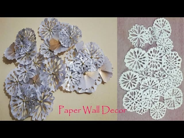 Mix Diy Paper Flower Wall Hanging Easy Flowers
