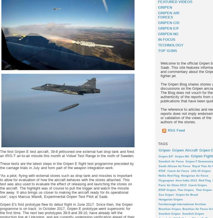 Mix · Gripen E Fires Its First Missile - Gripen