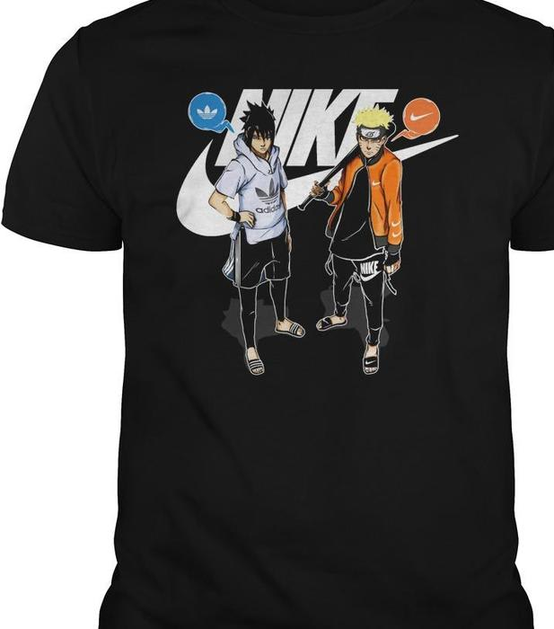 Naruto And Sasuke Nike Adidas T shirts | TeeHerivar