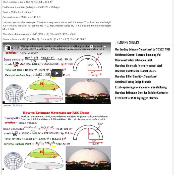 Mix · How To Calculate the Volume Of A Dome | Domes