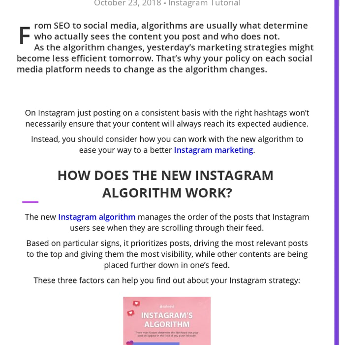 Mix · How to use the new Instagram algorithm to