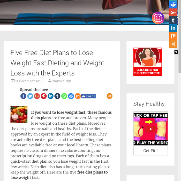 diet plans for free online