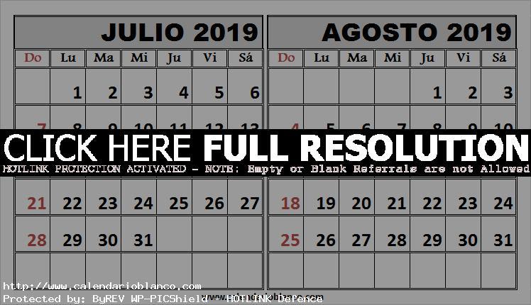 Calendario Agosto 2019 Espana.Mix Calendario Julio Y Agosto 2019 Con Festivos Calendario 2019